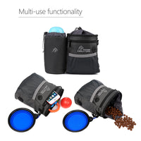 Dog Treat Pouch with Bottle Holder, Training clicker, Collapsible Bowl, Build-in Poop Bag Dispenser Dog Training Bag Carries Treats Kibble Toys 3 Ways to Wear - glabal-scm