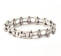 Stainless Steel Mens Bracelet Bike Chain Wide Motorcycle Heavy Bangle Man Jewelry