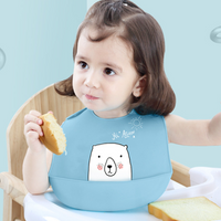 Cartoon Kids Silicone Baby Bibs Children's Adjustable Waterproof Bib Baby Feeding Stuff Burp Cloth Boy Girl Bibs Apron Baberos