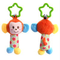 Baby Handbell Newborn Boys Girls Infant Soft Cute Animal Doll Handbells Developmental Baby Bells Toys - glabal-scm