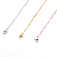 Stainless Steel Necklace Jewelry Chain Link  3 Color Set for Women Men