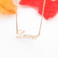 Rose Gold Silver Color Personalized Custom Name Pendant Necklace Customized Cursive Nameplate Necklace Handmade Birthday Gift - glabal-scm
