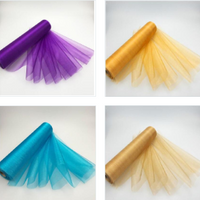 DIY Sheer Organza Roll Tulle For Chair Sashes Bows Table Runner Dress Fabric Swags Wedding Party Home Birthday Decora - glabal-scm