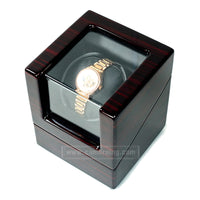 Cameraing Automatic Watch Winder With Quiet Motor Single Watch Display Box Piano Paint Appearance - Ms Virgin Hair