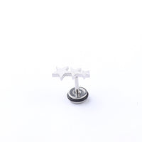 Stainless Steel Ball Stud Earrings for Men Women CZ Cartilage Helix Ear Piercing