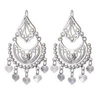 Earrings Indian Jewelry Classic Dangle Party Gift Silver Gold Color Rhinestone Tassels Drop Earrings For Women - glabal-scm