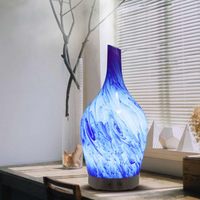 100ml Glass Aromatherapy Humidifier Essential Oil Diffuser Ultrasonic Quiet Home Office Living Room Spa Yoga