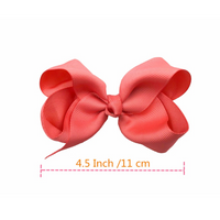 40pcs 4.5 Inch Kid Girls Large Ribbon Hair Bows Clips Accessories for Toddlers Kids Girls hair Accessories - glabal-scm