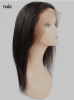 Cameraing Brazilian Human Virgin Hair Pre-Plucked Straight Lace Frontal Wig 3
