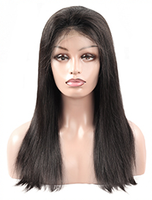 Cameraing Brazilian Human Virgin Hair Pre-Plucked Straight Lace Frontal Wig 4