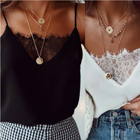 Womens Blouse Tee Lace T shirts Vest Summer 2019 Hot Sale Sexy Vest Fashion Camisole Crop Top Sleeveless T-Shirt Tank Top - glabal-scm