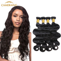 Cameraing Indian Human Virgin Hair Body Wave 4 Bundles