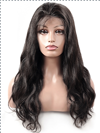Cameraing Brazilian Human Virgin Hair Pre-Plucked Body Wave Full Lace Wig 1