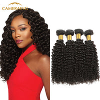Cameraing Brazilian Human Virgin Hair Kinky Curly 4 Bundles