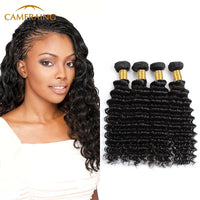 Cameraing Indian Human Virgin Hair Deep Wave 4 Bundles
