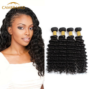 Cameraing Indian Human Virgin Hair Deep Wave 4 Bundles 1