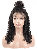 Cameraing Brazilian Human Virgin Hair Pre-Plucked Kinky Curly Lace Frontal Wig