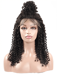 Cameraing Brazilian Human Virgin Hair Pre-Plucked Kinky Curly Lace Frontal Wig 1