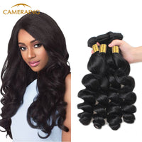 Cameraing Brazilian Human Virgin Hair Loose Wave 4 Bundles