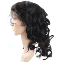 Cameraing Brazilian Human Virgin Hair Pre-Plucked Loose Wave Full Lace Wig 3