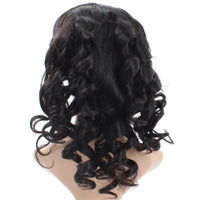 Cameraing Brazilian Human Virgin Hair Pre-Plucked Loose Wave Full Lace Wig 4