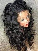 Cameraing Brazilian Human Virgin Hair Pre-Plucked Loose Wave Lace Frontal Wig
