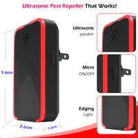 Farewell Ultimate Ultrasonic Pest Repeller | Dual-Power 100Khz Electronic Indoor Insect Repellent for Bugs, Rodents, Mice, Rats, Fleas, Roaches, Spiders & Mosquitoes | Non-Toxic & Pet Safe | 2-Pack - glabal-scm