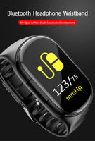 AI Smart Watch With Bluetooth Earphone Heart Rate Blood pressure Monitor Smart Wristband Long Time Standby Sport Watch Women Men - glabal-scm