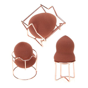 Practical Makeup Beauty Egg Powder Puff Sponge Display Stand Alloy Drying Holder Rack Cosmetic Puff Holder - glabal-scm