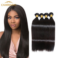 Cameraing Brazilian Human Virgin Hair Straight 4 Bundles