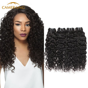 Cameraing Indian Human Virgin Hair Water Wave 4 Bundles 1