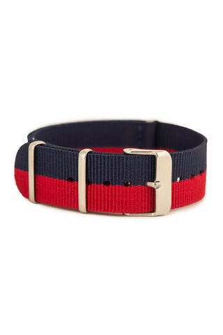 Navy/Red Watch Strap