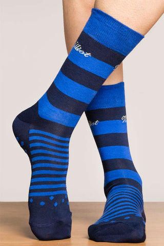 Blue & Navy Stripe Socks