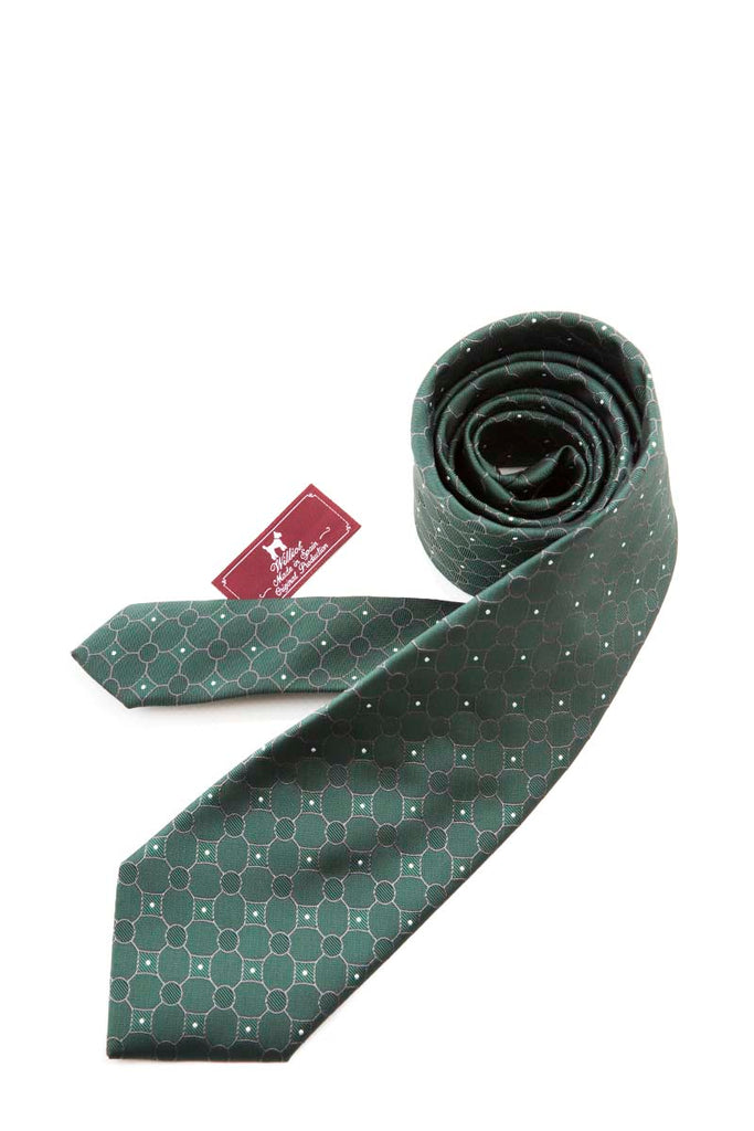 Green Tie With Subtle Detail