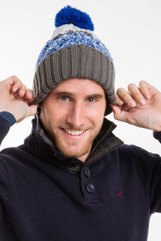 Blue & Grey Williot Beanie