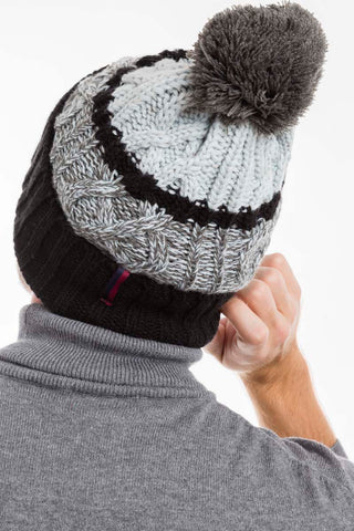 Black Grey Williot Beanie