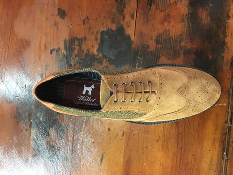 PATCHWORK TAN SHOE