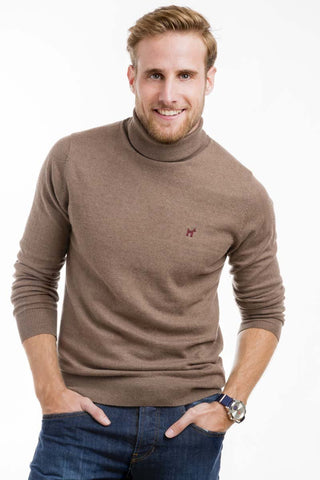 Beige Polo Neck Jumper