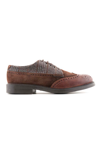 Grey & Brown Blucher Shoes
