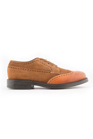 Leather & Suede Light Tan Shoe