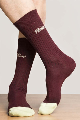 Burgundy Williot Socks