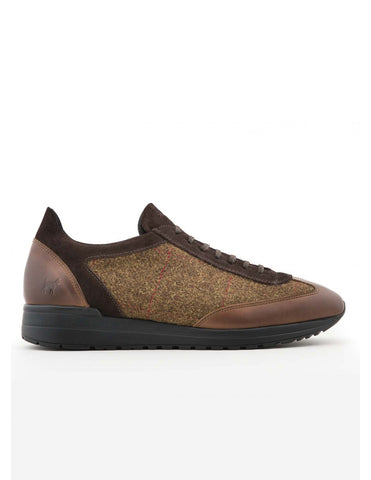 Luxury Tweed Contrast Runner Trainer