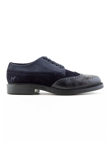 Navy Blucher Brogues