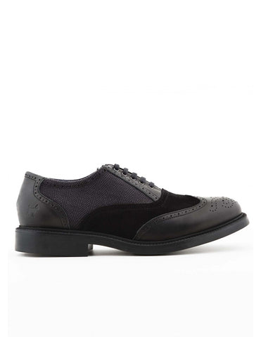 Williot Oxford Shoe - Grey Black