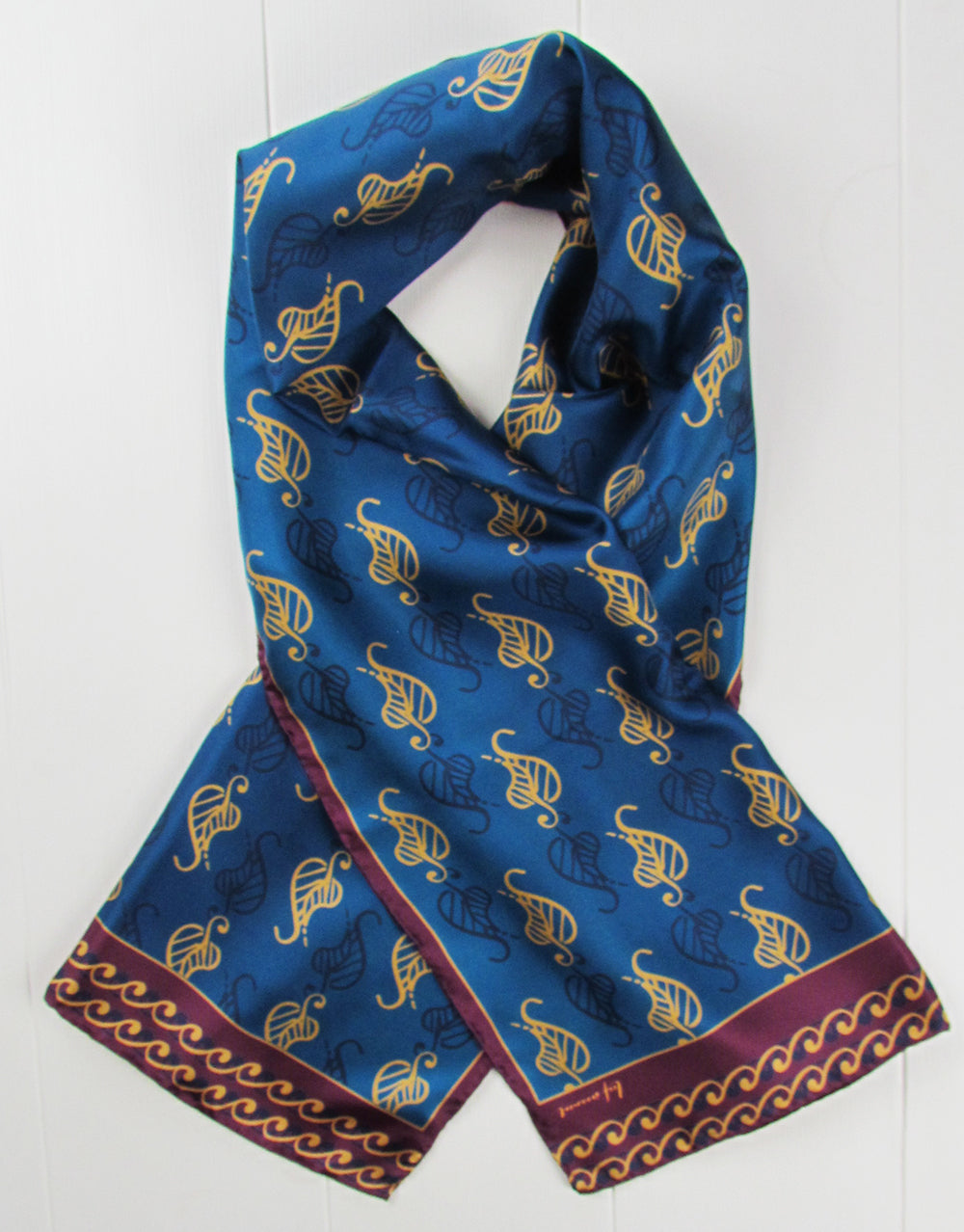 Sarahs Silk Leaf ornament silk scarf