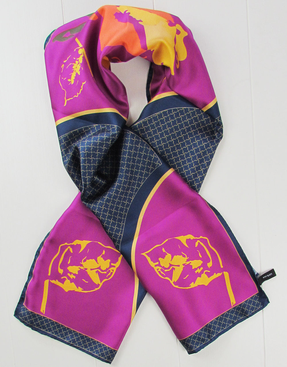 Sarahs Silk Roses and Gold Silk scarf