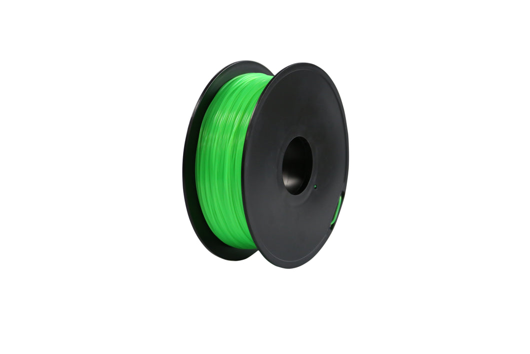 3D Printer Fluorescent Green Color PLA Filament 1.75mm Accuracy +/- 0.05 mm 1kg