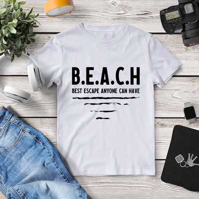 Beach T-shirt. Funny Beach Theme Gift.
