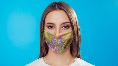 Colorful Butterfly Face Mask