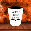 Halloween Shot Glass - Witch's Brew Bat Eyes, Rotten Pumpkin Juice, Brain Juice, Mermaid Tears